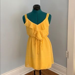 Yellow Polk dot sun dress